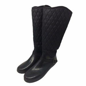 Sperry Top Sider Rain Boots Womens 10 Black